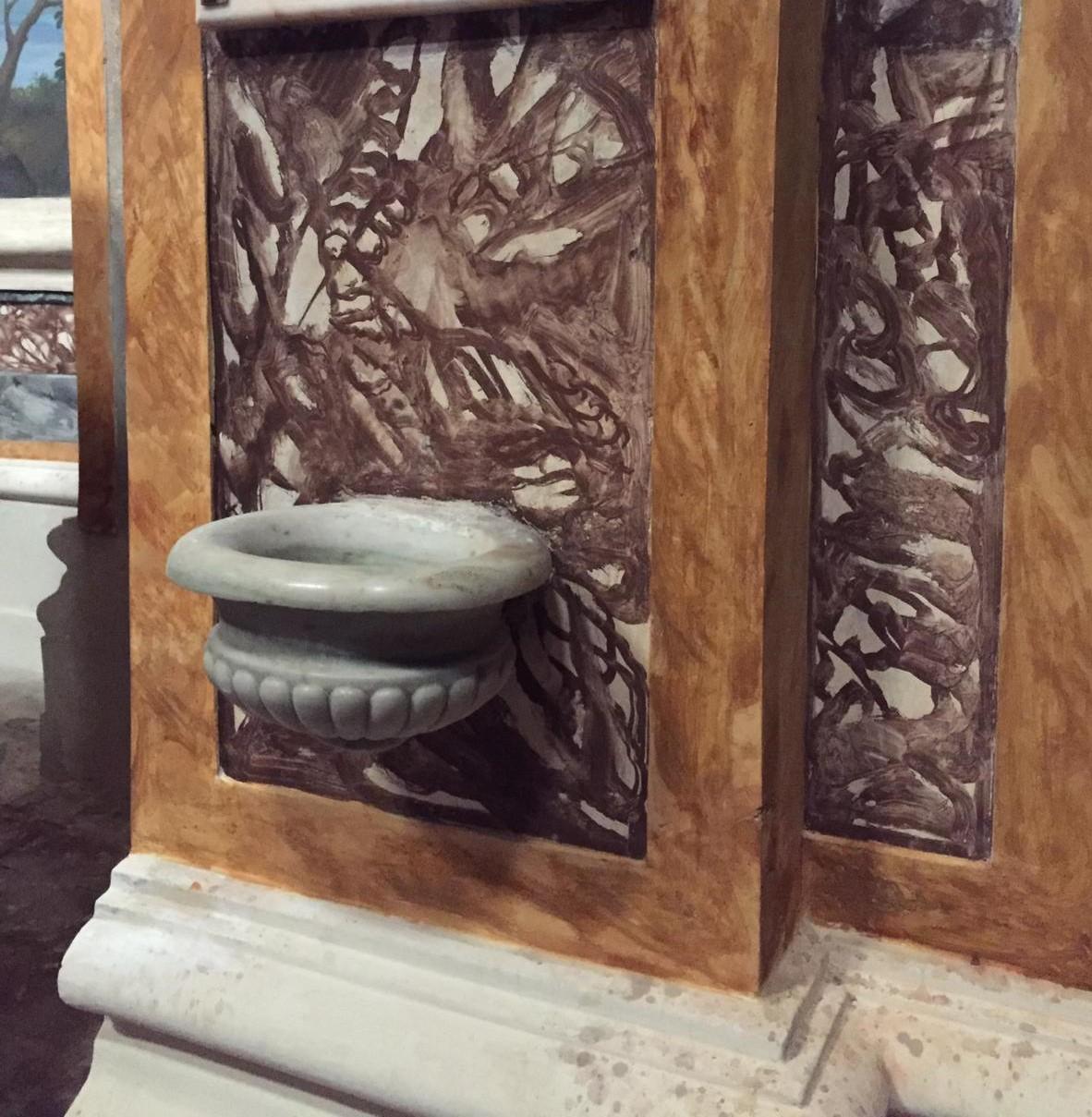 basamento in finto marmo Chiesa di San Giovanni Sanfre' (cn) (1)
