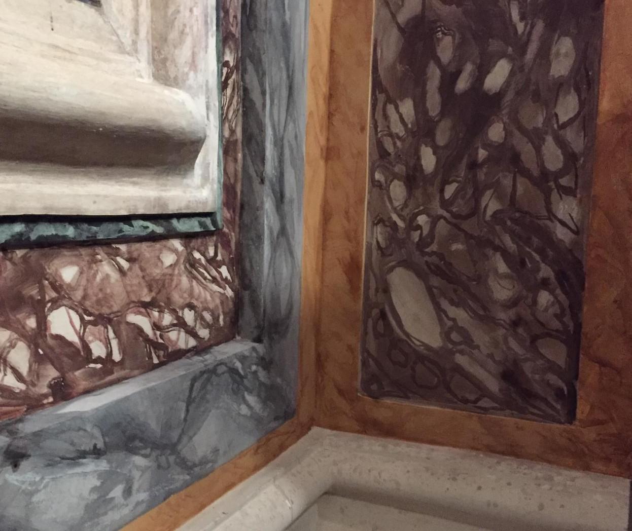 basamento in finto marmo Chiesa di San Giovanni Sanfre' (cn) (2)