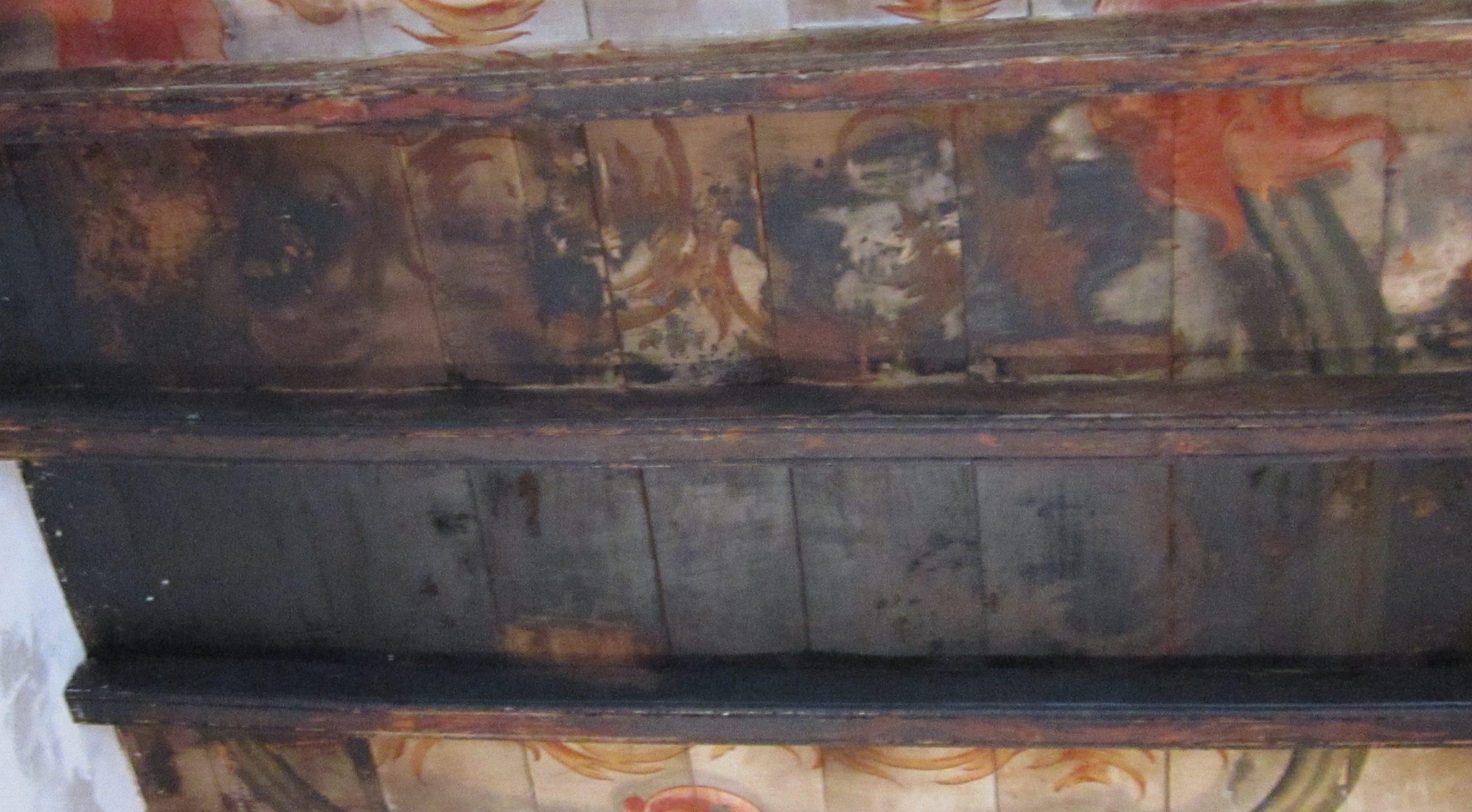 restauro di volta lignea policroma rivoli TO 7